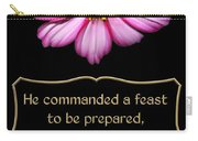 Cosmos Flower With Bible Quote From Esther Carry-all Pouch