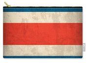Costa Rica Flag Vintage Distressed Finish Carry-all Pouch