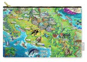 Costa Rica Map Illustration Carry-all Pouch