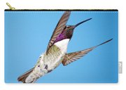 Costa's Hummingbird In Flight Carry-all Pouch