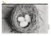 Cottage Bird's Nest In Black And White Carry-all Pouch