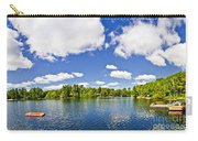 Cottage Lake With Diving Platform And Dock Carry-all Pouch by Elena Elisseeva