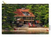 Cottage On A Lake Carry-all Pouch