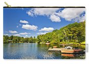 Cottages On Lake With Docks Carry-all Pouch by Elena Elisseeva
