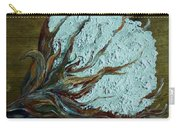 Cotton Boll On Wood Carry-all Pouch by Eloise Schneider