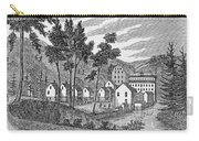 Cotton Factory Village, Glastenbury, From Connecticut Historical Collections, By John Warner Carry-all Pouch