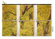Cottonwood Fall Foliage Colors Rustic Farm Window View Carry-all Pouch