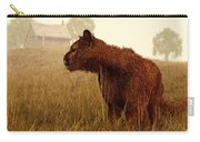 Cougar In A Field Carry-all Pouch by Daniel Eskridge