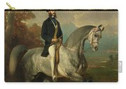 Count Alfred De Montgomery 1810-91 1850-60 Oil On Canvas Carry-all Pouch