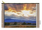Country Beams Of Light Pealing Picture Window Frame Vie Carry-all Pouch