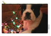 Country Christmas Puppy Carry-all Pouch
