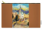 Country Church At Sunset Carry-all Pouch