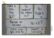 Country Commandments Carry-all Pouch