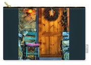 Country Cottage Door At Christmas Carry-all Pouch