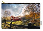 Country Covered Bridge Carry-all Pouch by Debra and Dave Vanderlaan
