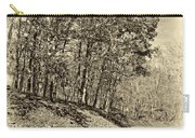 Country Curves And Vultures Sepia          Carry-all Pouch