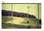 Country Dirt Road And Telephone Poles Carry-all Pouch