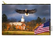 country Eagle Church Flag Patriotic Carry-all Pouch