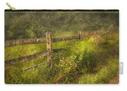 Country - Fence - County Border  Carry-all Pouch by Mike Savad