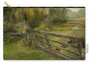 Country - Gate - Rural Simplicity  Carry-all Pouch by Mike Savad
