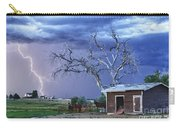 Country Horses Lightning Storm Ne Boulder County Co Hdr Carry-all Pouch by James BO  Insogna
