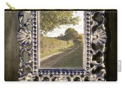 Country Lane Reflected In Mirror Carry-all Pouch by Amanda Elwell