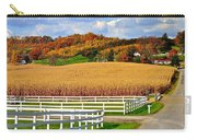 Country Lane Carry-all Pouch by Frozen in Time Fine Art Photography