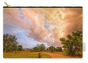 Country Road Into The Storm Front Carry-all Pouch