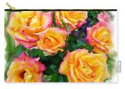 Country Roses Watercolor Carry-all Pouch