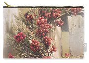 Country Wreath With Red Berries Carry-all Pouch