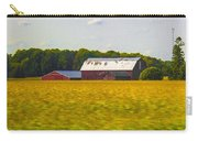 Countryside Landscape With Red Barns Carry-all Pouch