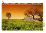 Countryside Orchard Landscape At Sunset. Spring Time Carry-all Pouch