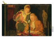 Couple Counting Money By Candlelight, 1779 Panel Carry-all Pouch