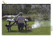 Couple Enjoying A Picnic In A Grassy Area Carry-all Pouch
