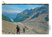 Couple Hiking On Plain Of Six Glaciers Trail  In Banff Np-albert Carry-all Pouch