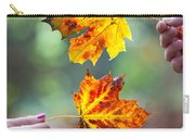 Couple Holding Autumn Leaves Carry-all Pouch