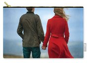 Couple Standing On Windy Moorland Carry-all Pouch