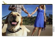 Couple Take Their Dogs For A Walk Carry-all Pouch