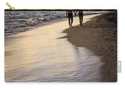 Couple Walking On A Beach Carry-all Pouch