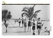 Couples Strolling Along The Pathway On The Beach. Carry-all Pouch