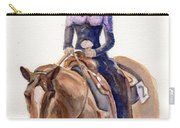Horse Painting Cowgirl Courage Carry-all Pouch