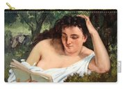 Courbet's A Young Woman Reading Carry-all Pouch