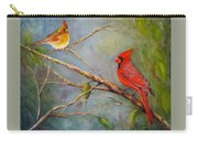 Courting Cardinals, Birds Carry-all Pouch