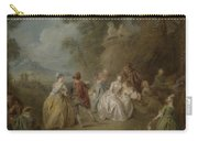 Courtly Scene In A Park, C.1730-35 Carry-all Pouch