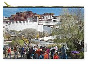 Courtyard Of Potala Palace In Lhasa-tibet Carry-all Pouch