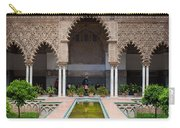 Courtyard Of The Maidens In Alcazar Palace Of Seville Carry-all Pouch