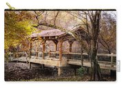 Covered Bridge On The River Walk Carry-all Pouch