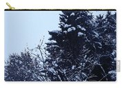 Covered Snow Trees Carry-all Pouch