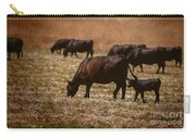 Cow And Calf Grazing Carry-all Pouch
