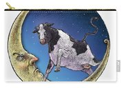 Cow And Moon Carry-all Pouch